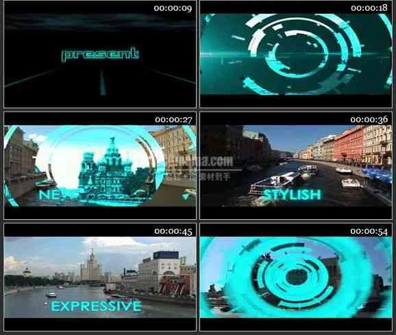 AE2429-科技感文字特效电视包装 图文展示