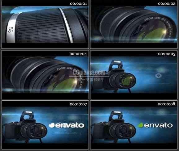 AE2468-相机镜头LOGO标志展示