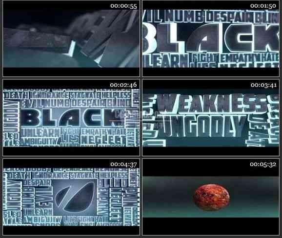 AE2476-3D黑色标题文字特效 文本展示