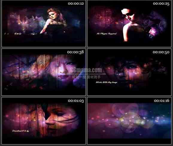 AE2485-黑暗风格人物介绍广告 图片展示