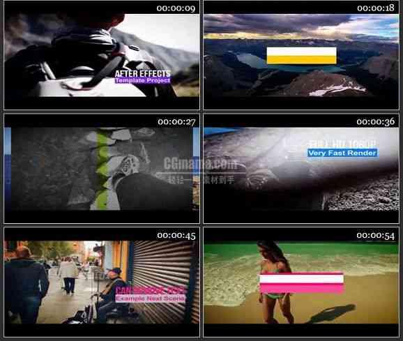 AE2496-实景拍摄的幻灯片 视频展示