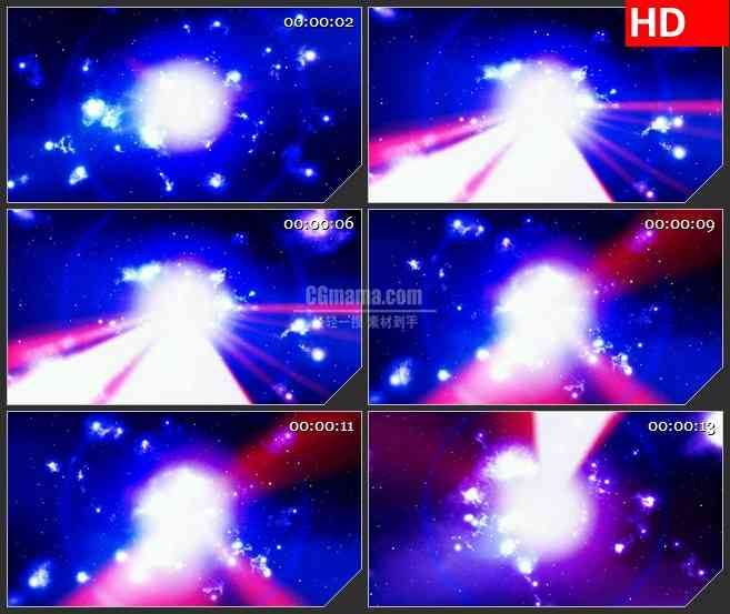 BG3858耀眼的激光束led大屏背景高清视频素材
