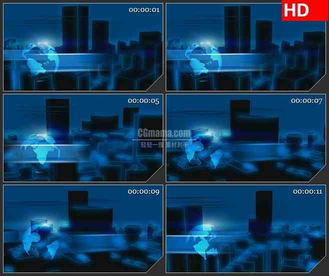 BG3861夜幕下的城市楼宇led大屏背景高清视频素材