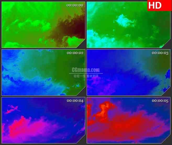 BG3867移动的彩色云层led大屏背景高清视频素材