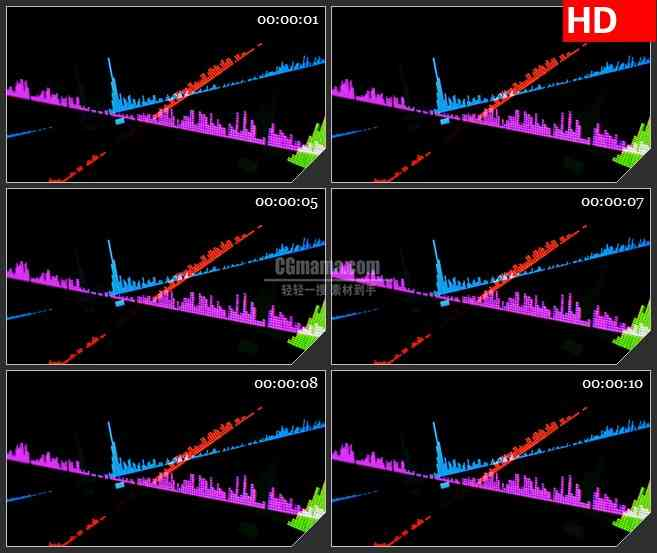 BG3870音轨 led大屏背景高清视频素材