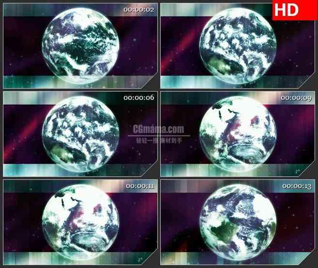BG3838旋转的地球led大屏背景高清视频素材