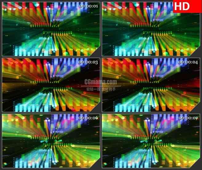 BG3877音乐会耀斑光谱led大屏背景高清视频素材