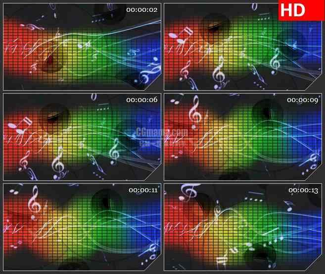 BG3880音乐元素 彩虹背景led大屏背景高清视频素材