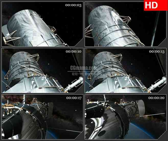 BG3898宇宙中的卫星led大屏背景高清视频素材