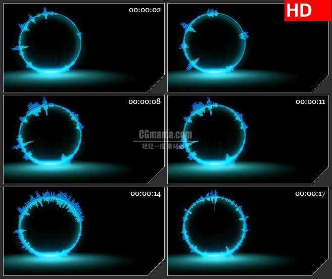 bg3904圆形音频均衡器led大屏背景高清视频素材