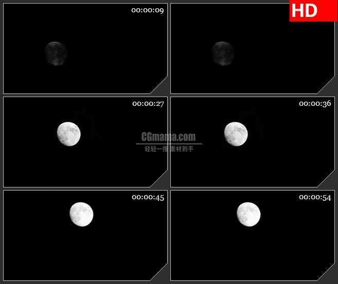 BG3906月亮升空中秋节led大屏背景高清视频素材
