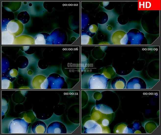 BG3917重叠的暗色圆形led大屏背景高清视频素材