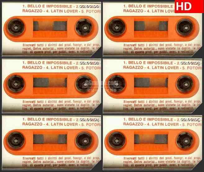 BG3919转动的磁带盒led大屏背景高清视频素材