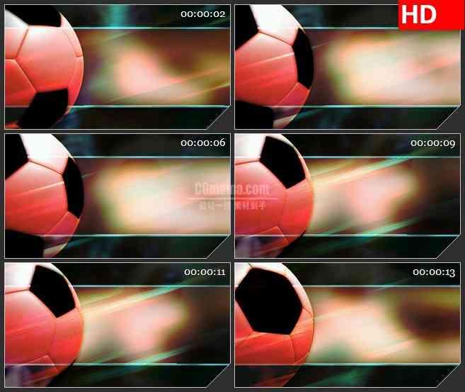 BG3927转动的足球 体育类栏目包装led大屏背景高清视频素材