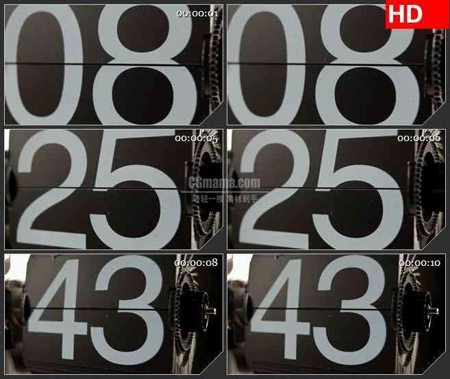 BG3929转动翻动的机械数字牌led大屏背景高清视频素材