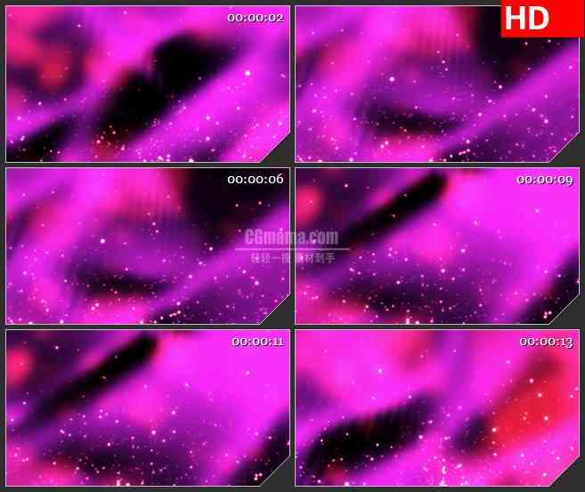 BG3935紫色云雾背景白色粒子上升飞舞led大屏背景高清视频素材