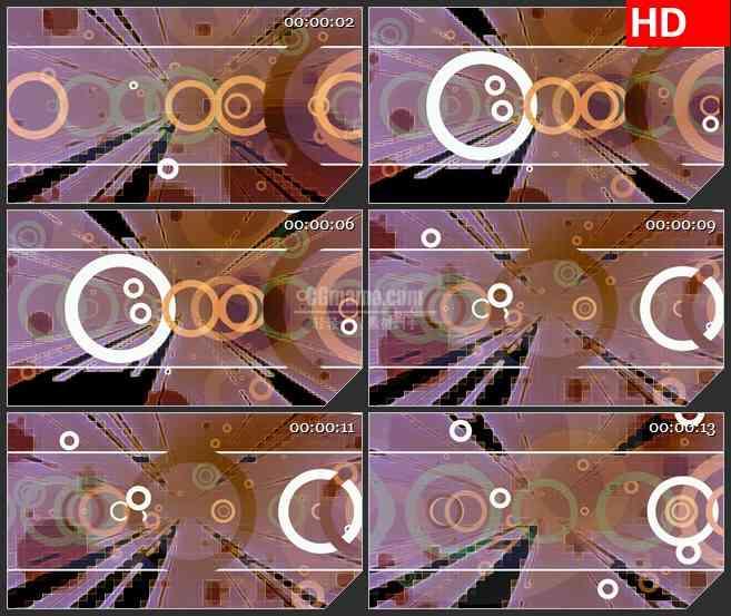 BG3941纵深的光线 机械运动圆环led大屏背景高清视频素材