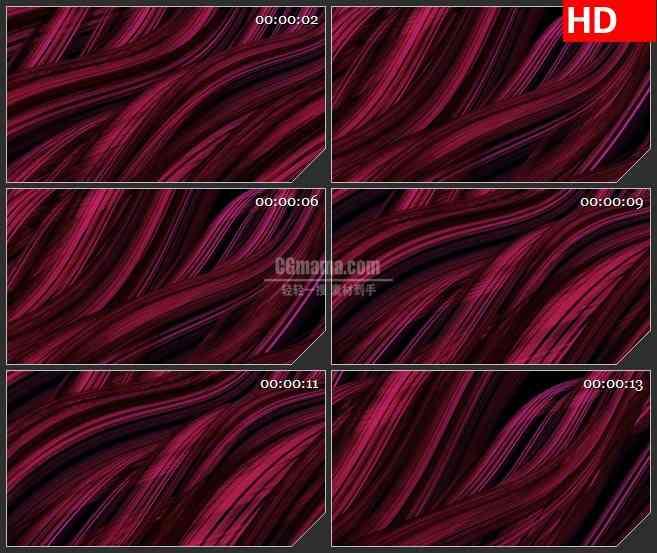 BG3943暗红色波浪线led大屏背景高清视频素材