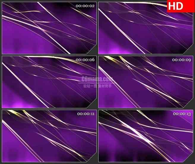 bg3946白色波浪丝带紫色背景led大屏背景高清视频素材