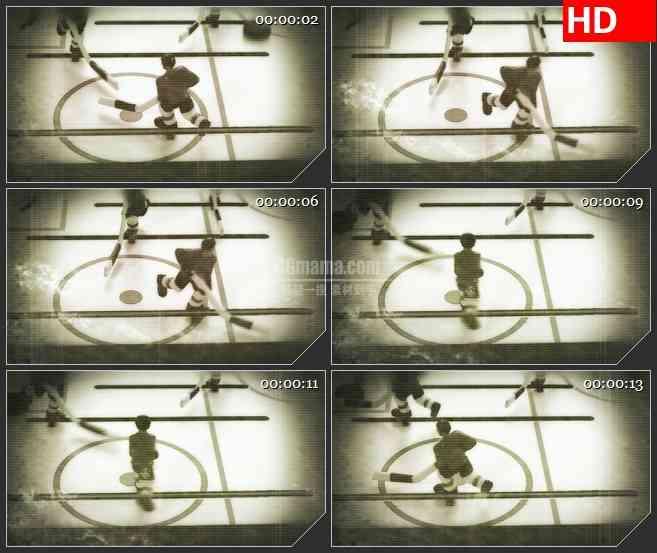 BG3958冰上曲棍球比赛复古回忆百叶窗纹理led大屏背景高清视频素材