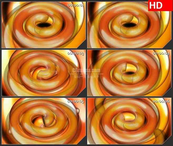 BG3970橙色半透明螺旋旋转动态背景led大屏背景高清视频素材