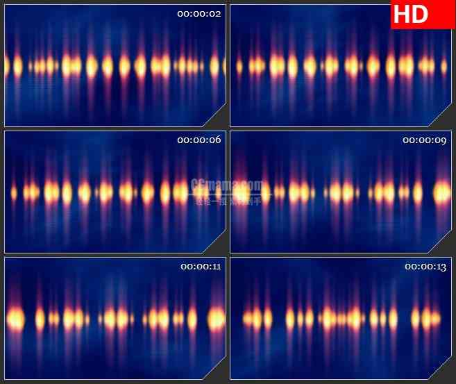 BG3972橙色灯光光斑蓝色背景led大屏背景高清视频素材