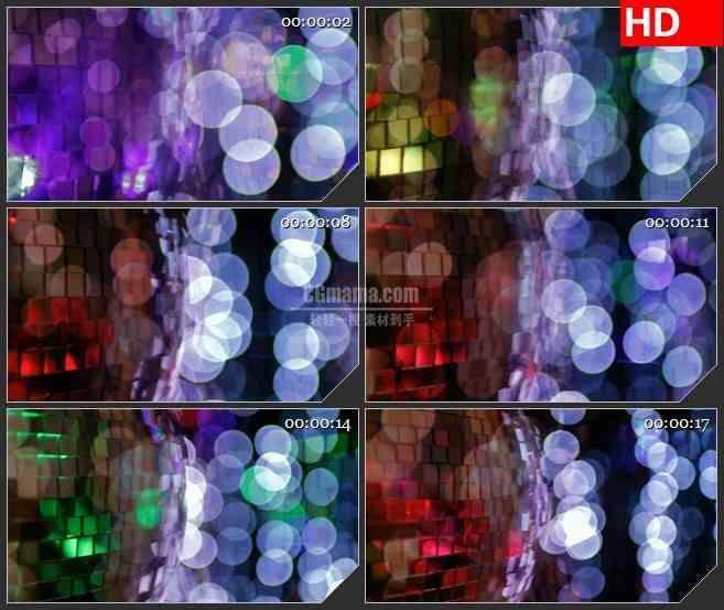 BG3993迪斯科灯光梦幻大光斑闪烁led大屏背景高清视频素材