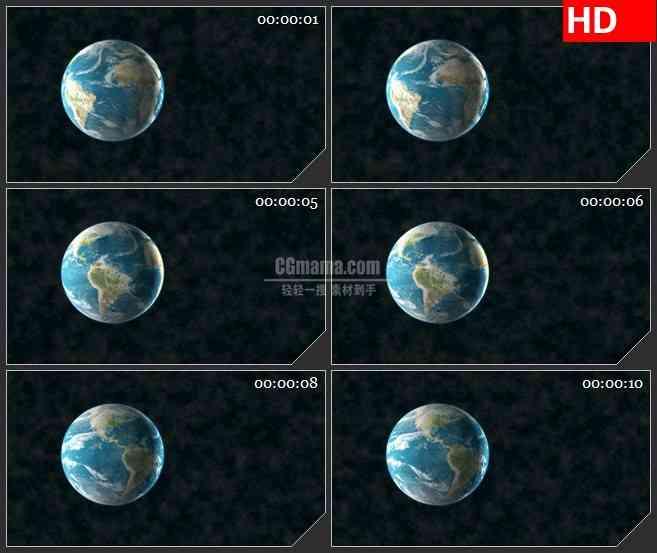 BG3997地球宇宙太空尘埃反向旋转三维动画led大屏背景高清视频素材