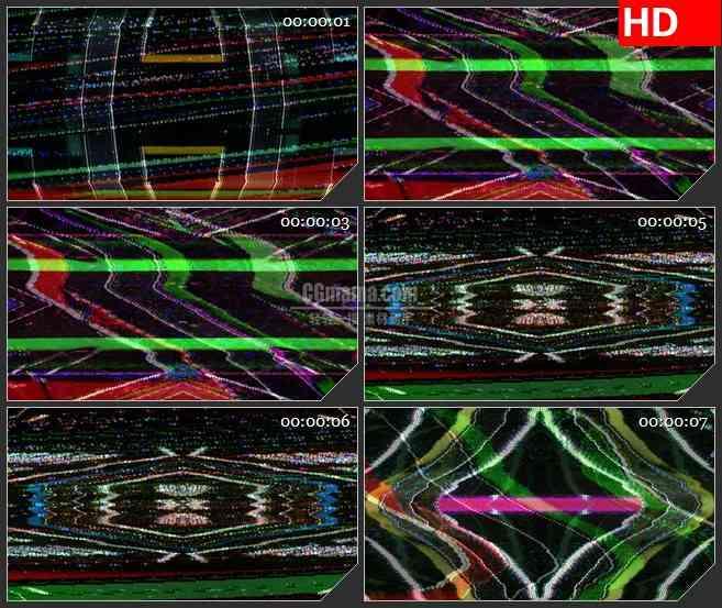 BG3999电视彩色燥波信号干扰画面led大屏背景高清视频素材
