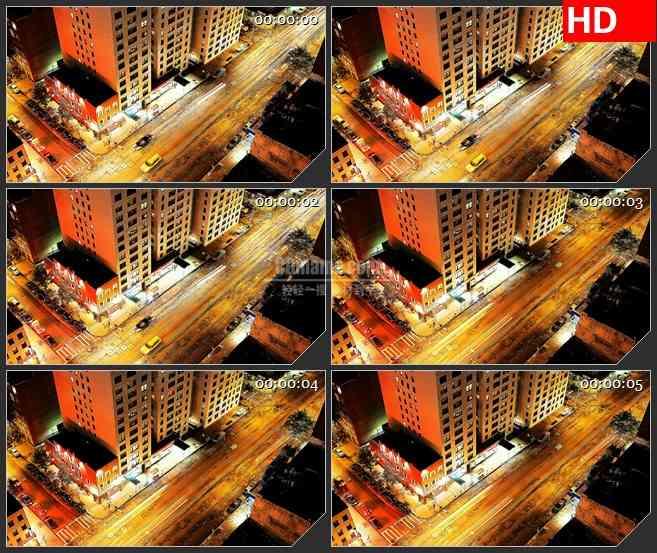 BG4001都市夜景 热闹的街道led大屏背景高清视频素材