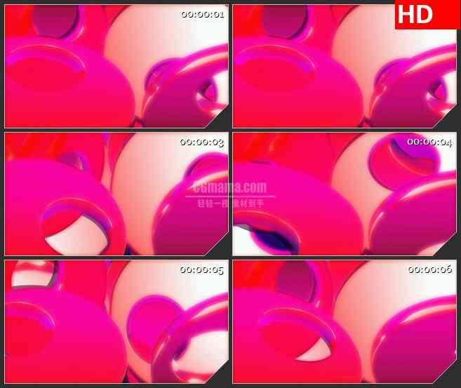 BG4012粉红色圆圈盘旋led大屏背景高清视频素材