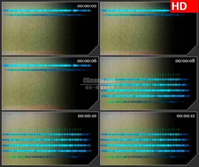 BG4027复古二进制流蓝色数字变换led大屏背景高清视频素材