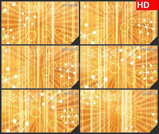 BG4036复古金黄色竖条纹抽象小花旋转led大屏背景高清视频素材