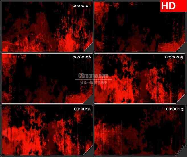 BG4041复古历史红色火焰大理石纹理动态背景led大屏背景高清视频素材