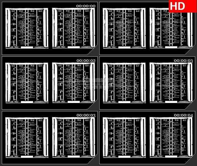 bg4042复古收音机的刻度盘led大屏背景高清视频素材