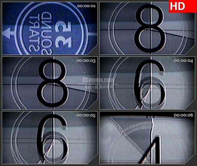 BG4045复古通用电影倒计时led大屏背景高清视频素材