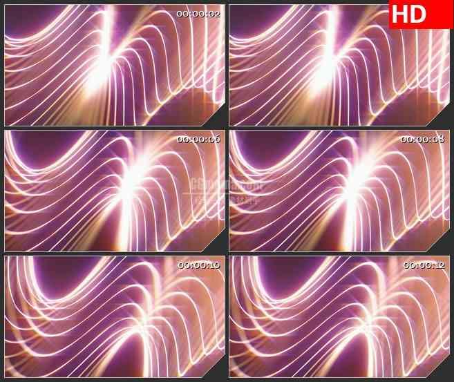 BG4058滚动波浪光线荧光粉色背景led大屏背景高清视频素材