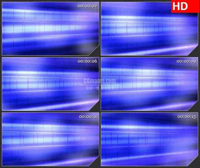 BG4074滚动蓝色底片胶片条led大屏背景高清视频素材