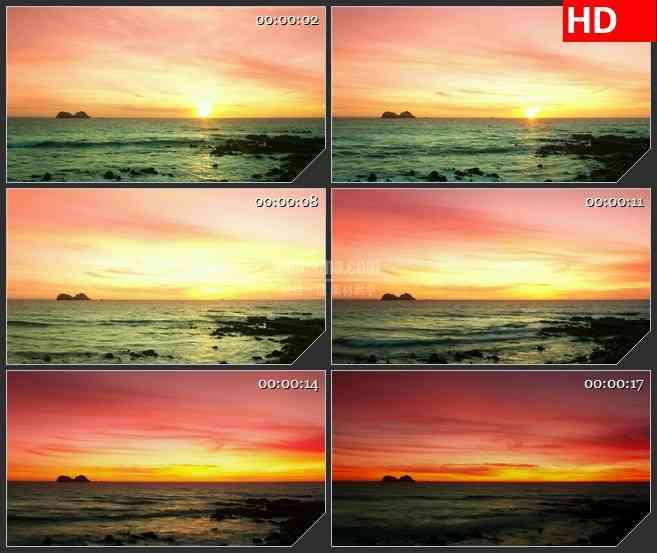 BG4079海边日落led大屏背景高清视频素材