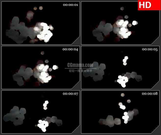 BG4080海光闪闪发光银白色光斑led大屏背景高清视频素材