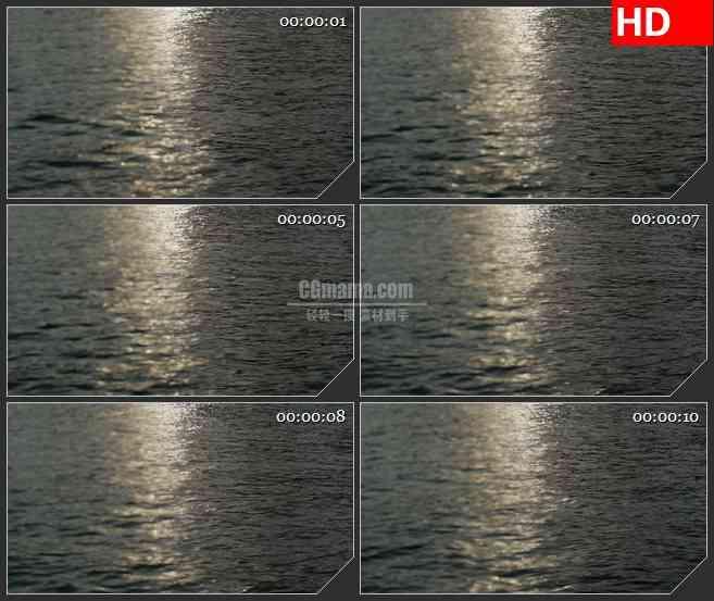 BG4082海面夕阳水波纹光影led大屏背景高清视频素材