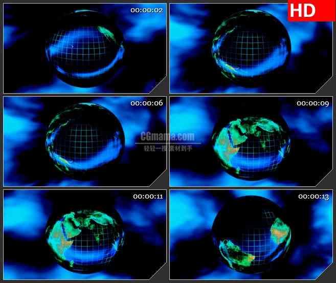 BG4091黑夜 旋转的地球led大屏背景高清视频素材