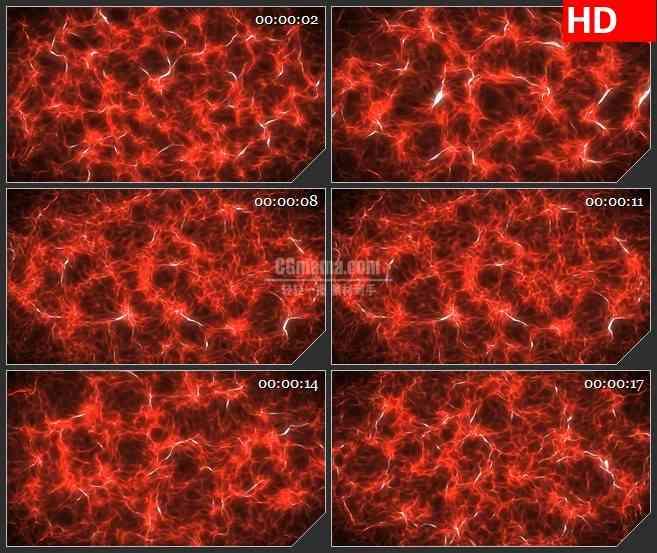 BG4095红色波浪电波水波纹能量光影led大屏背景高清视频素材