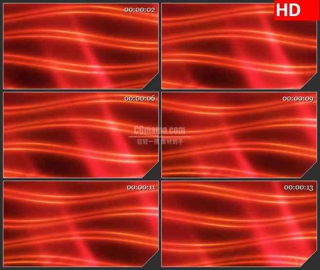 BG4096红色波浪光波led大屏背景高清视频素材