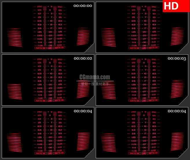 BG4110红色光谱分析仪数字led大屏背景高清视频素材