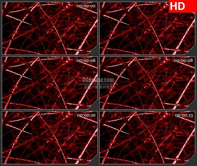 BG4118红色毛细血管交错动态背景led大屏背景高清视频素材