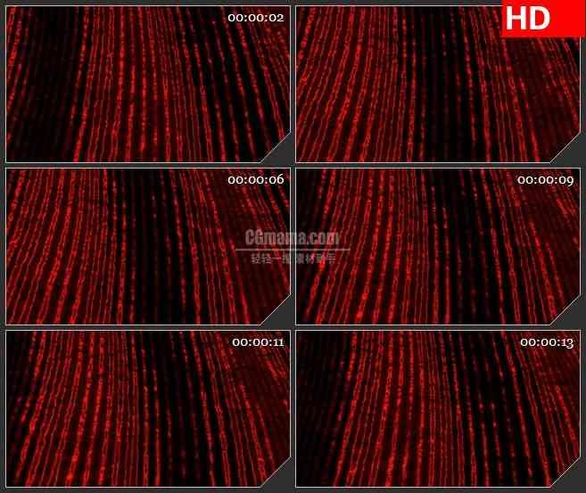 BG4123红色条纹波动黑色背景自带透明通道led大屏背景高清视频素材