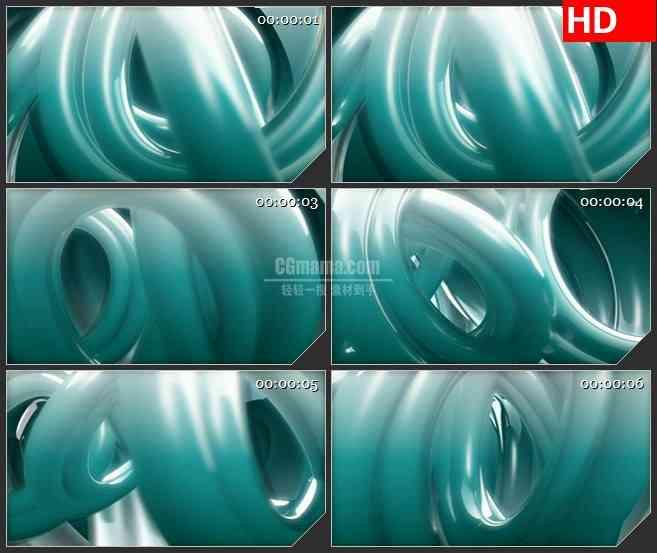 BG4152灰蓝色三维立体圆环交叉旋转led大屏背景高清视频素材