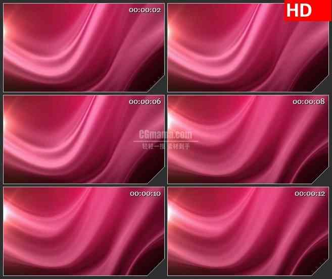 BG4170酒红色绸缎波纹飘动动态背景led大屏背景高清视频素材