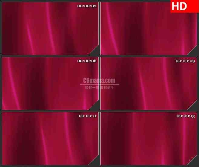 BG4171酒红色绸缎幕布波浪纹理led大屏背景高清视频素材